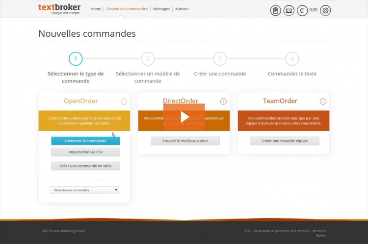 Comment fonctionne Textbroker Video