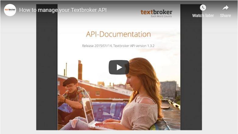 l'API de Textbroker
