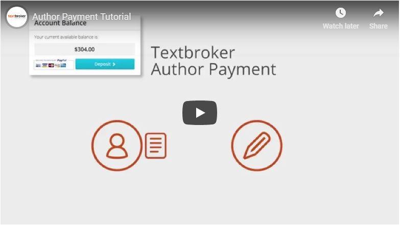 Le paiement des auteurs chez Textbroker