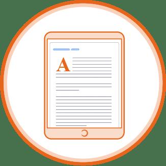 texte pour livre électronique
