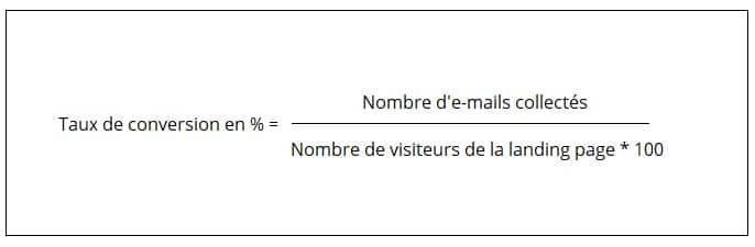 formule du calcul du taux de conversion